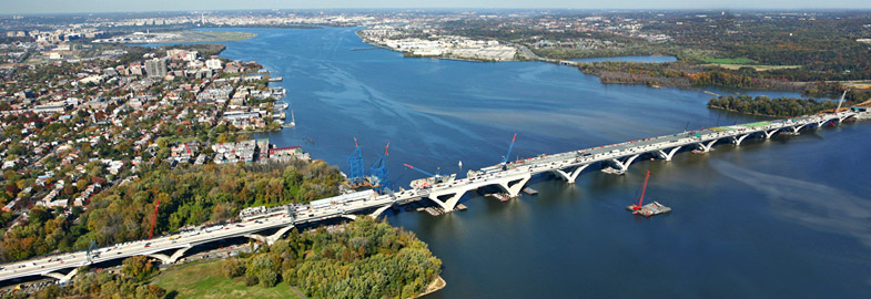 Woodrow Wilson Bridge over the Potomac River